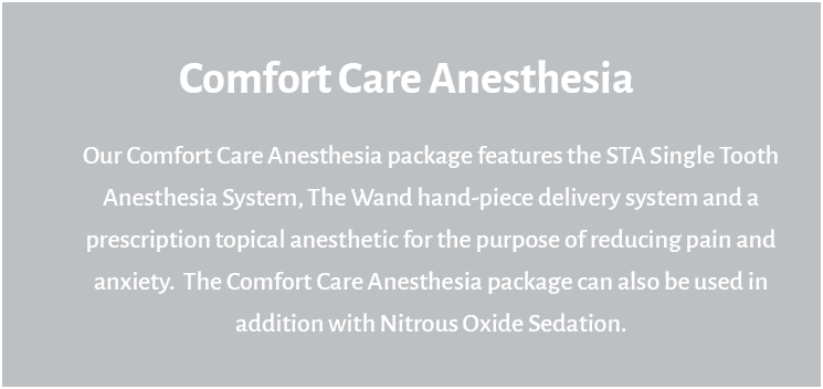 comfort care anesthesia